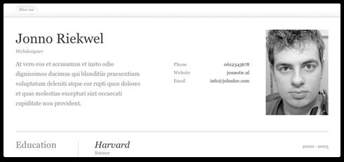 Ücretsiz CV Örneği
